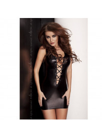 LYZZY VESTIDO NEGRO LEATHER