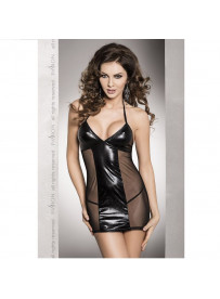 SANAA VESTIDO NEGRO LEATHER