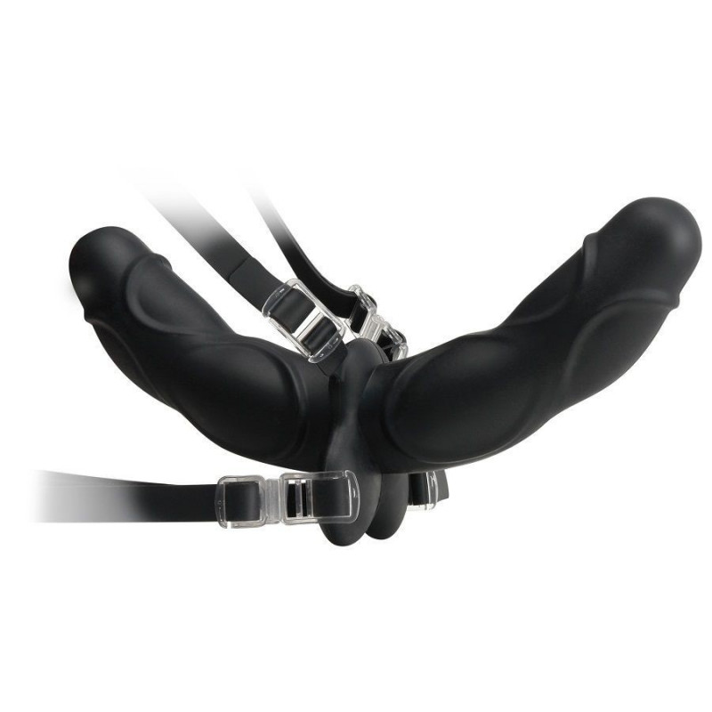 DOUBLE DELIGHT STRAP-ON NEGRO 11.5CM