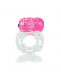 ANILLO VIBRADOR COLOR POP BIG O ROSA